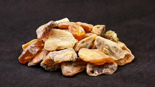 Baltischer Rohbernstein unbehandelt, Fraktion 5,0 - 10,0 Gramm