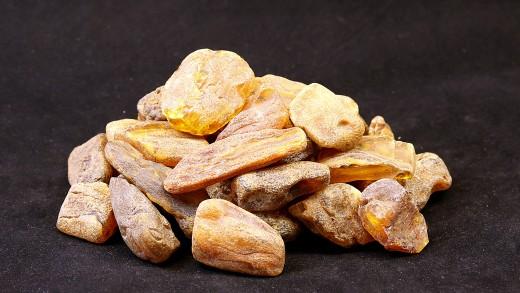 Baltischer Rohbernstein unbehandelt, Fraktion 10,0 - 20,0 Gramm