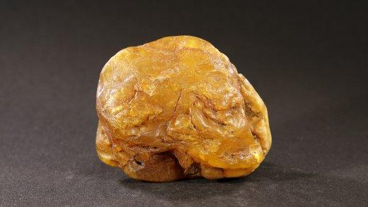 Schlaubenbernstein 25,2 Gramm, Harzkissen